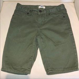 Old Navy Khaki Green Denim Chino Shorts Boys 7